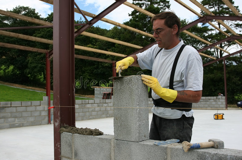 Download Building a Wall stock photo. Image of creating, architecture - 1957258
