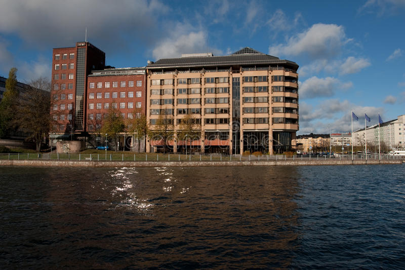 Building on the water royalty free stock photography