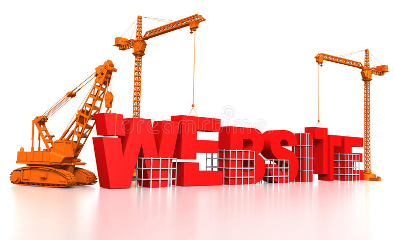Download Building a Website stock illustration. Image of mechanical - 17156132