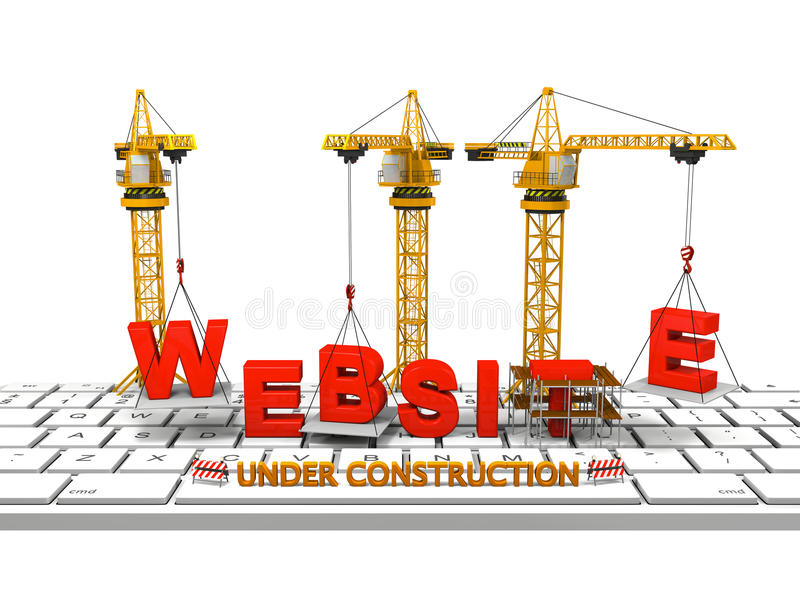 Building Website Royalty Free Stock Photo
