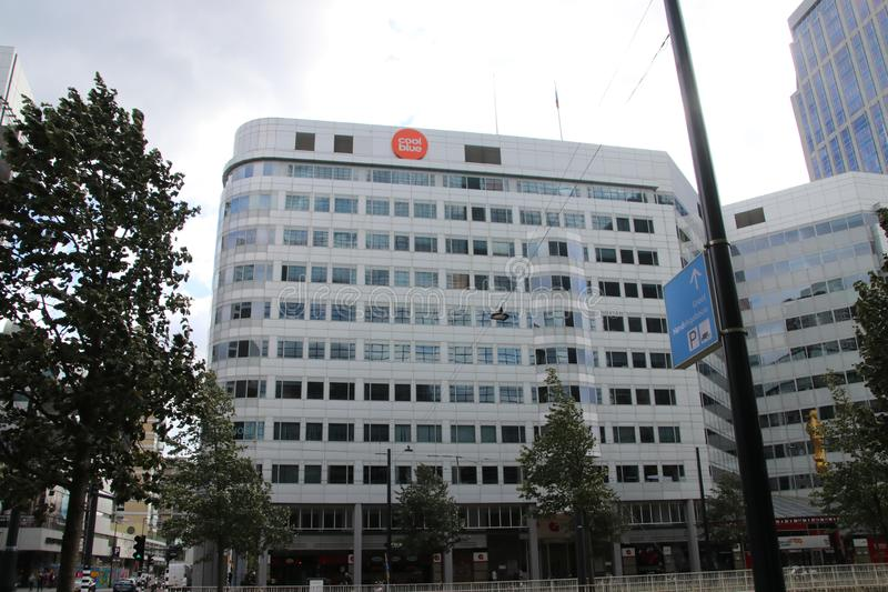Building on the Weena in Rotterdam where head office of Coolblue is in the Netherlands stock photos