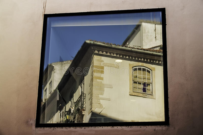 Building On A Window Royalty Free Stock Image