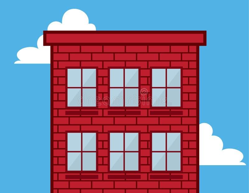 Building Windows Red Brick Stock Photos