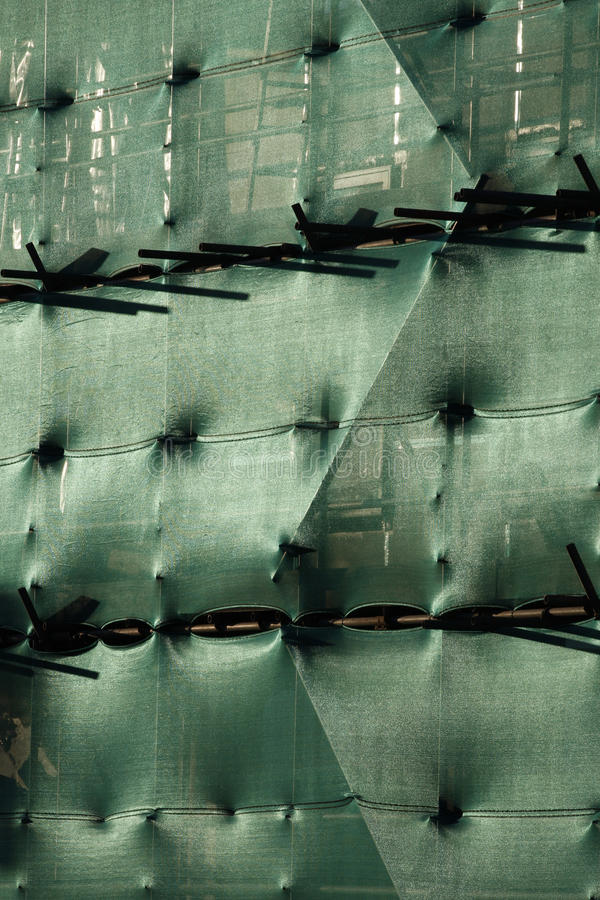 Free Building With Scaffolding And Green Netting Royalty Free Stock Photo - 14337305