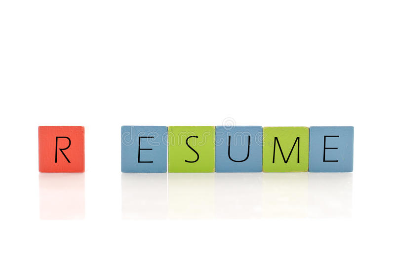 Building A Work Resume Royalty Free Stock Photos