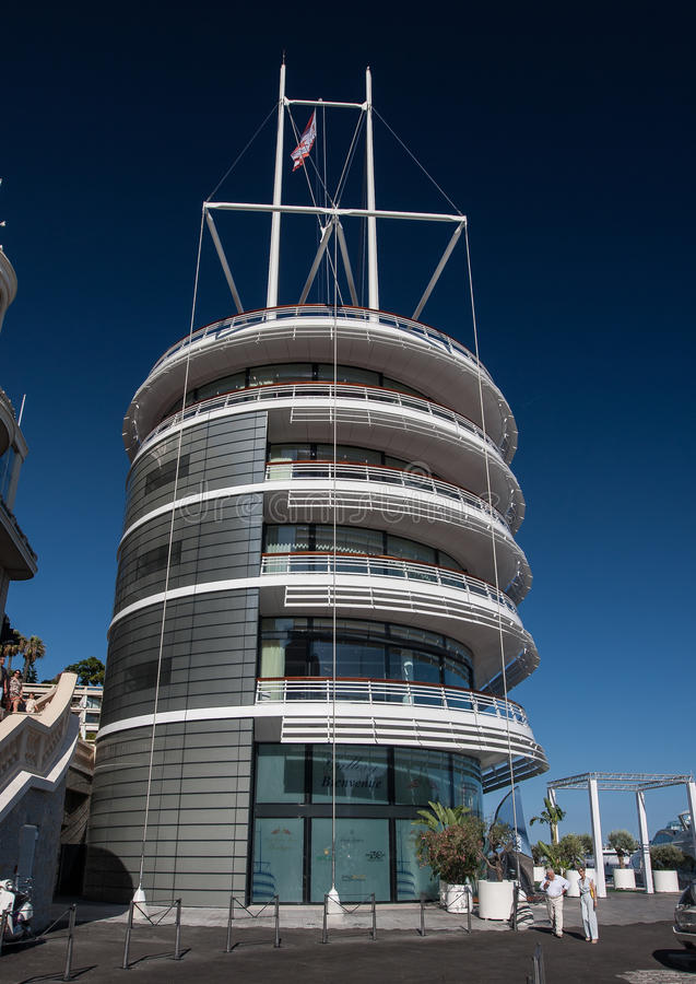 Building Of The Yacht Club Of Monaco  Editorial