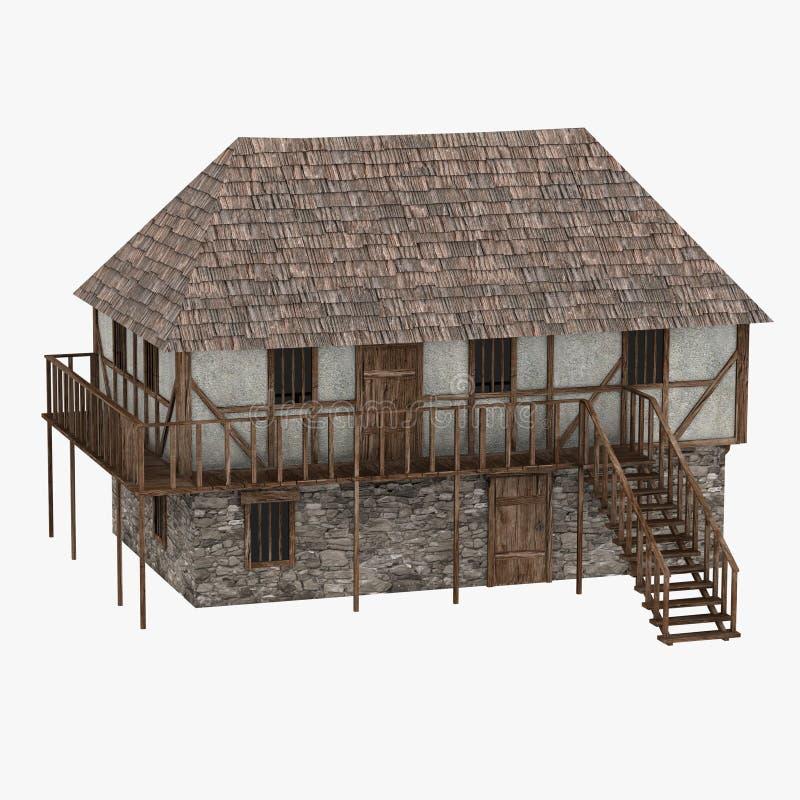 Building14 medieval stock de ilustración