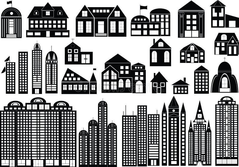Download Buildings stock vector. Illustration of habitation, garage - 10693708