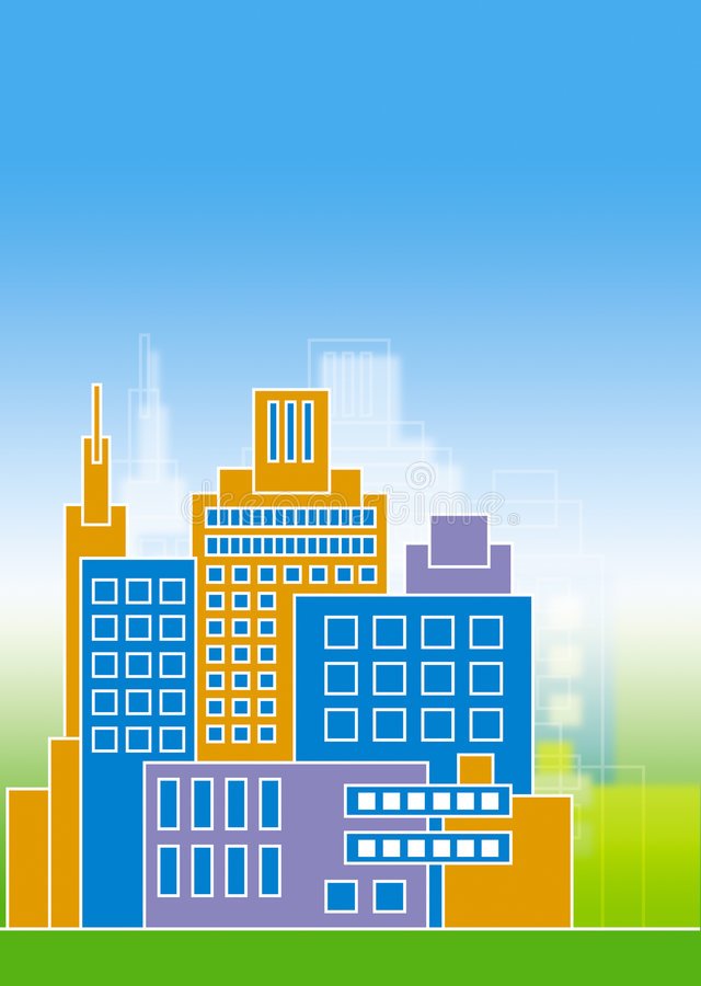 Buildings stock illustration