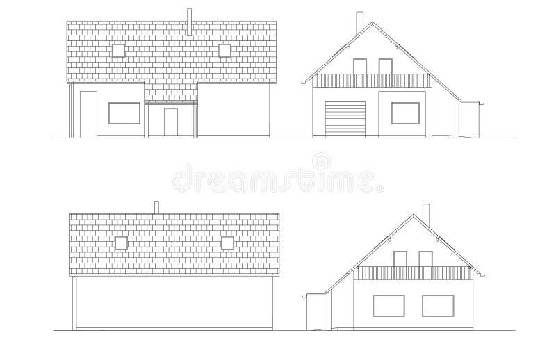 Download Buildings stock illustration. Illustration of draft, paper - 23596022