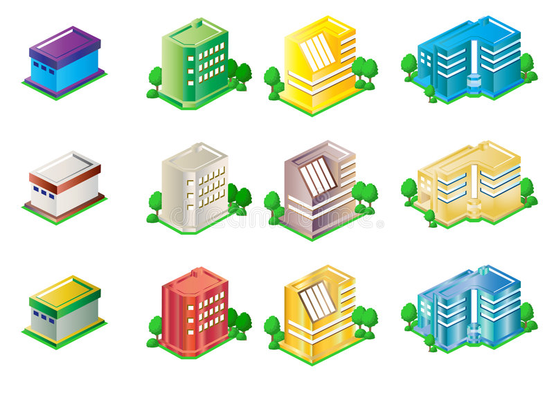 Buildings. City buildings vector art easy to resize or change color