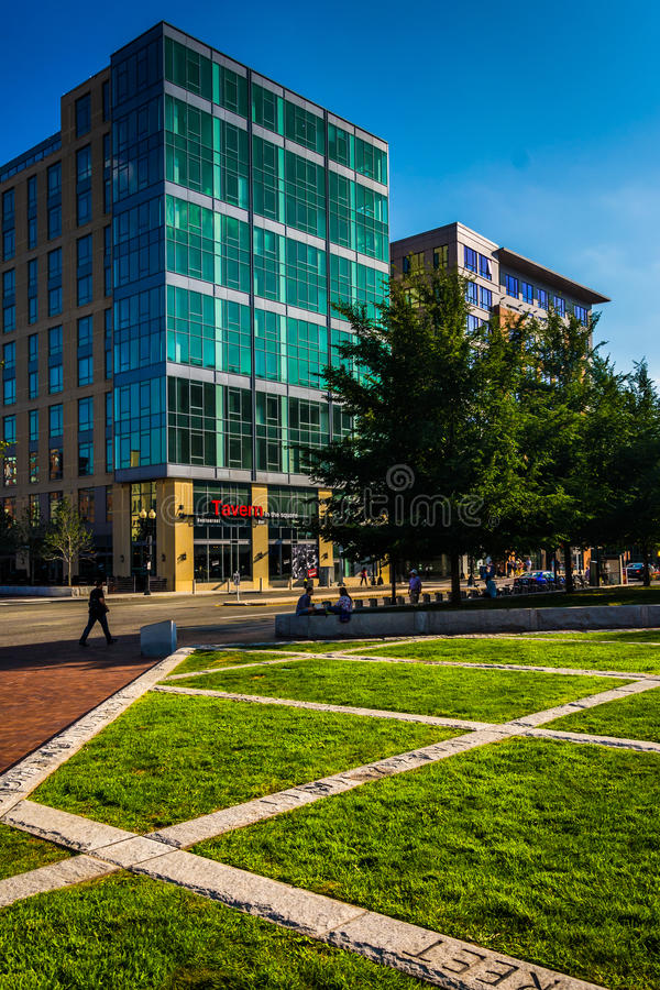Buildings along Causeway Street in Boston, Massachusetts. royalty free stock image