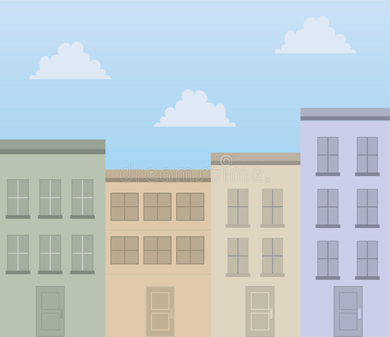 Download Buildings Apartments stock vector. Image of family, facade - 29695645
