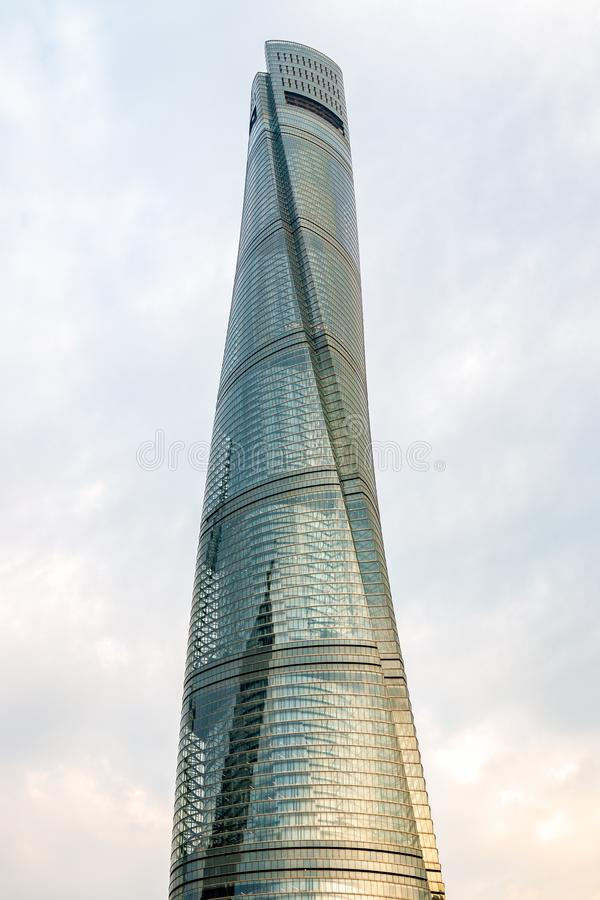 Buildings and architecture with urban skyscrapers in Pudong stock photo