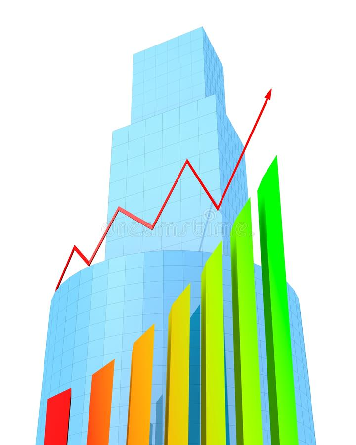 Download Buildings and arrow stock illustration. Image of chart - 23404029