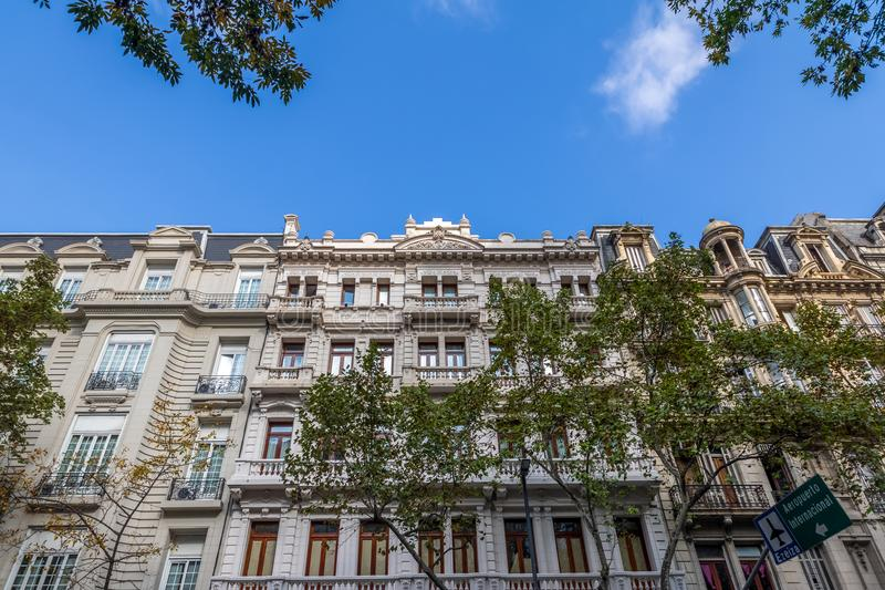 Buildings at Avenida de Mayo - Buenos Aires, Argentina. Buildings at Avenida de Mayo in Buenos Aires, Argentina royalty free stock photography