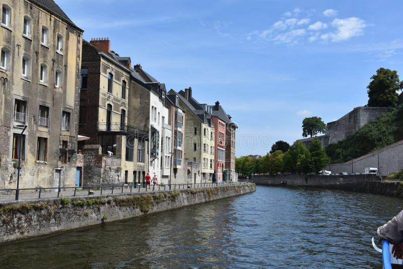 Namur capital city in Walloon at the banks of Meuse and Sambre  river royalty free stock photo