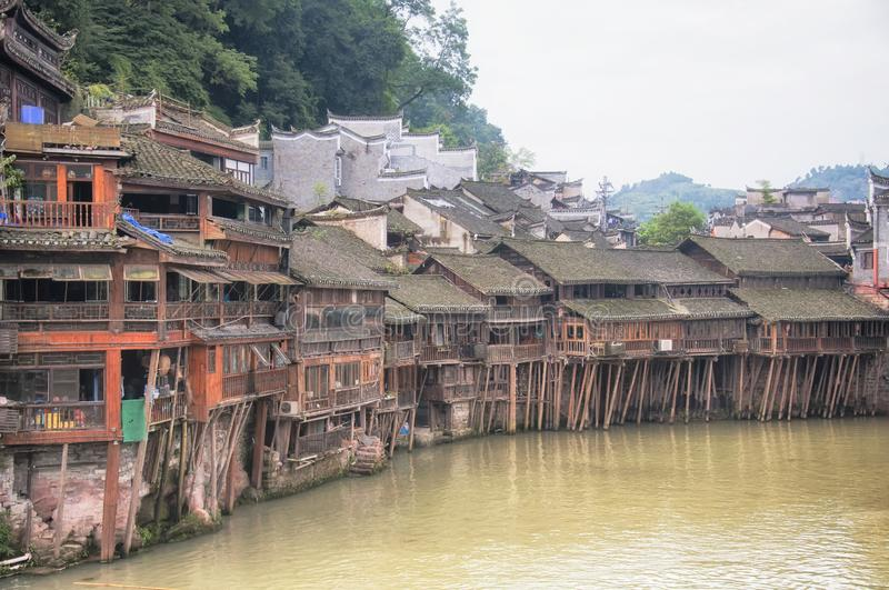 Fenghuang ancient town china and Tuo jiang river royalty free stock photography