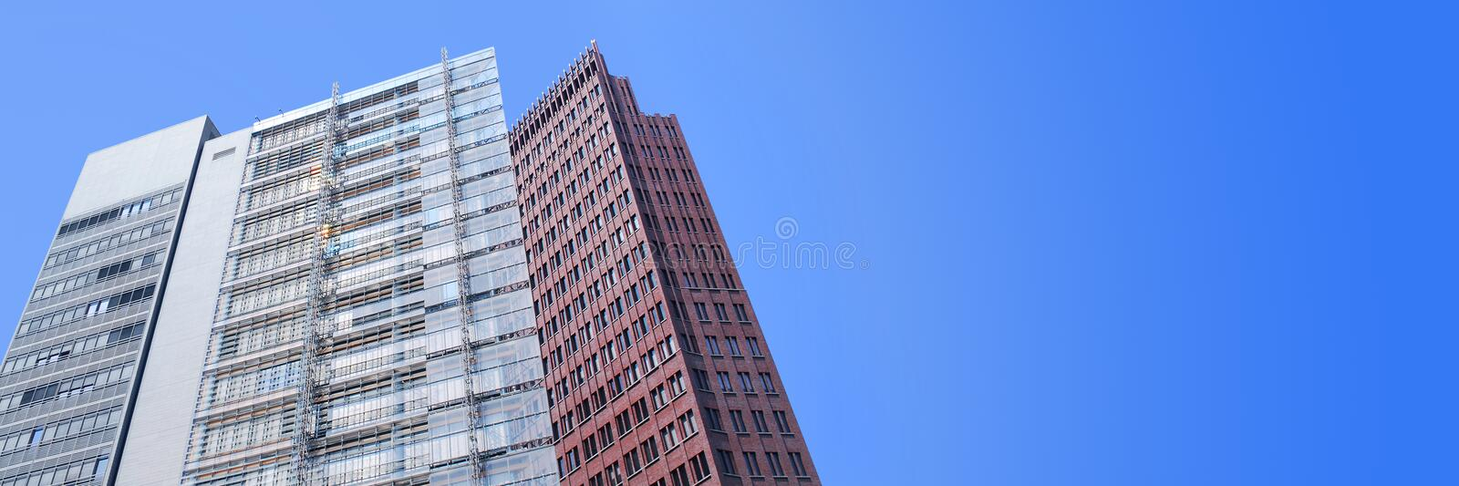 Download Buildings banner stock image. Image of business, blue - 33225537