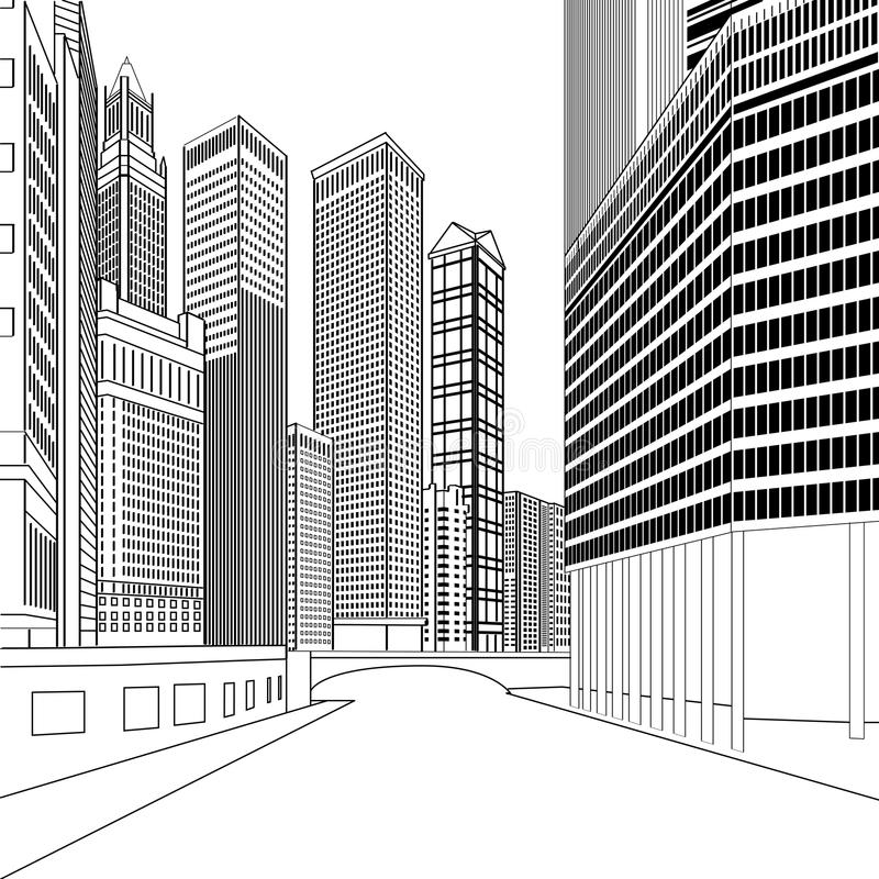 Buildings royalty free illustration