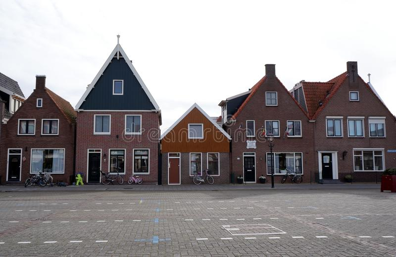 Buildings. And a square in Volendam Netherlands stock photos