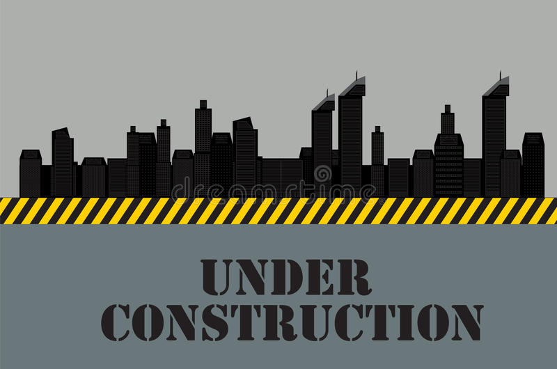 Buildings of the City. Under Construction. Vector vector illustration