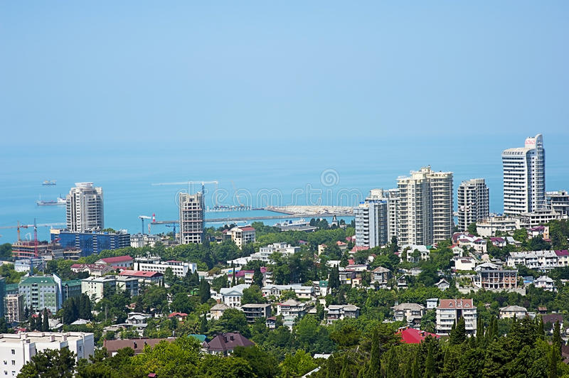Download Buildings On The Coast Of Sochi Royalty Free Stock Photos - Image: 25610768
