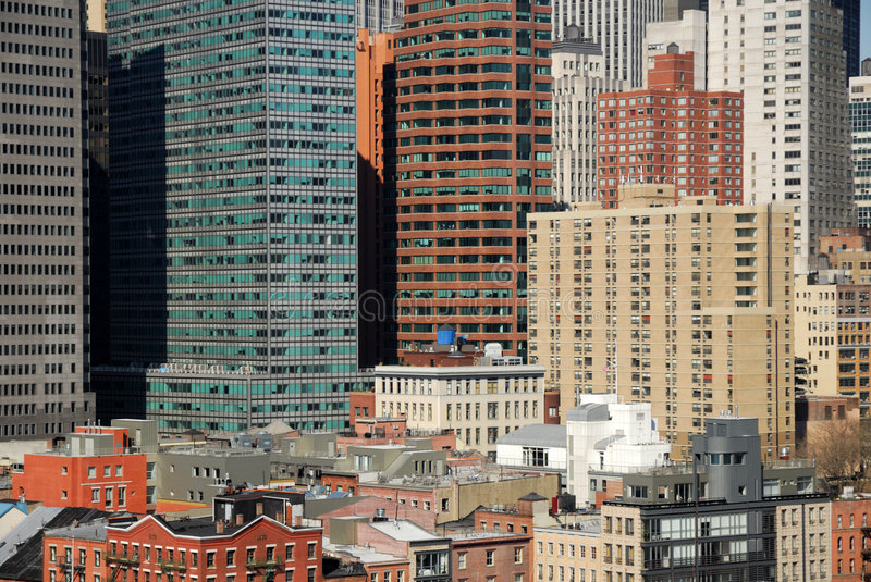 Download Buildings Downtown In Manhattan Stock Image - Image: 5055617