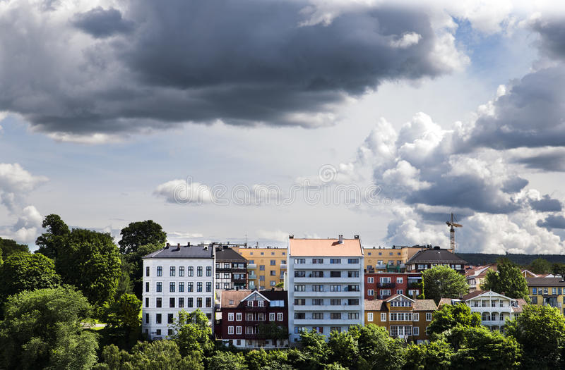 Buildings in downtown Oslo 1 royalty free stock photography