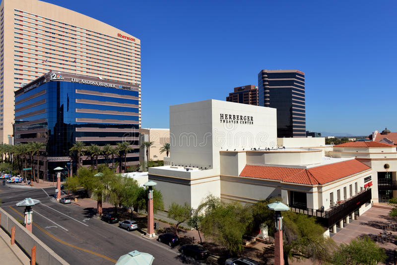 Buildings of downtown Phoenix royalty free stock photo