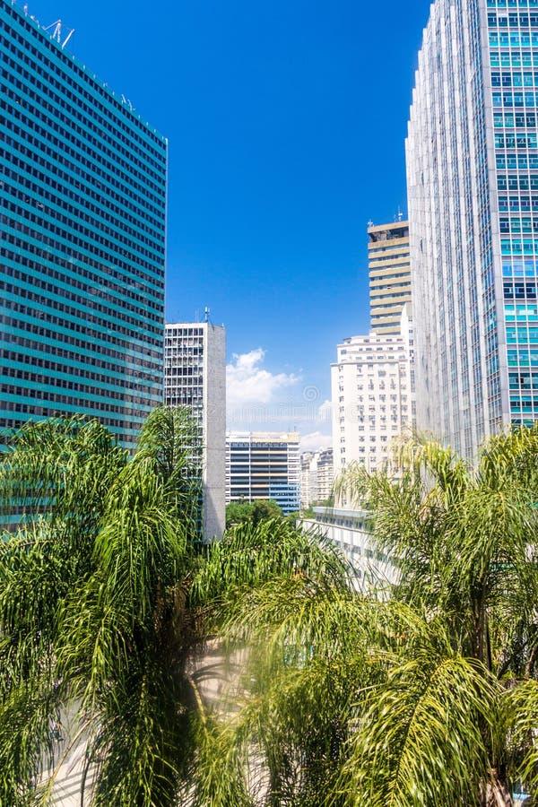 Buildings in the downtown of RIo de Janeiro. Tall buildings in the downtown of RIo de Janeiro, Brazil stock photos