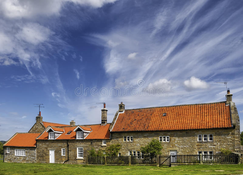 Buildings in English village royalty free stock photos