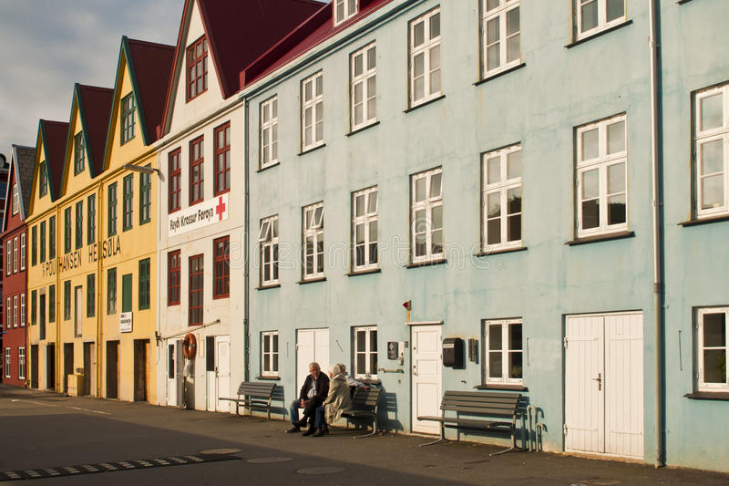 Buildings in Faroe Islands capital old town. Colorful buildings in Faroe Islands capital old town royalty free stock photography