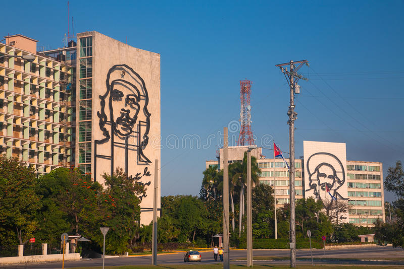 Buildings in fron of Revolution square, Havana royalty free stock photography