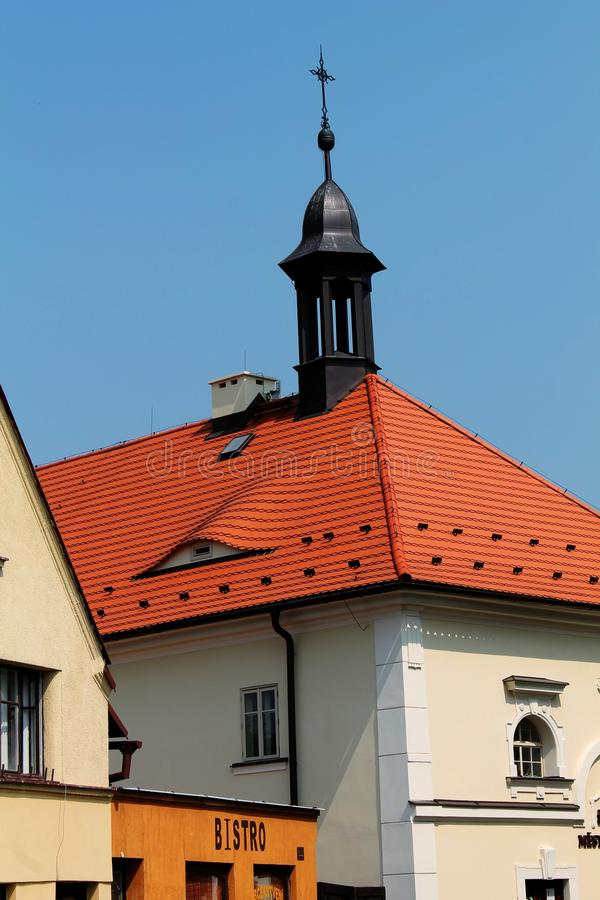 Buildings in Frydlant. Czech Republic stock photos