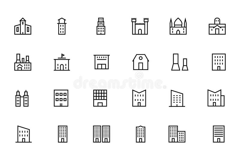 Buildings and Furniture 3 royalty free illustration