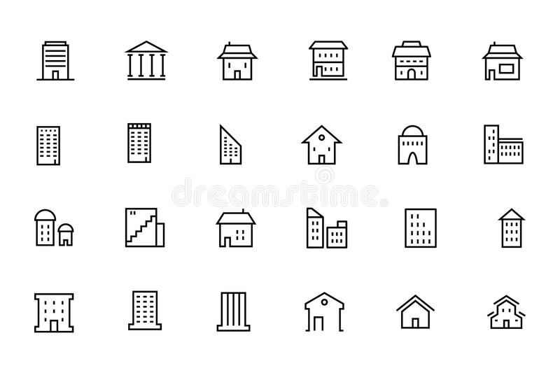 Buildings and Furniture 4 stock illustration