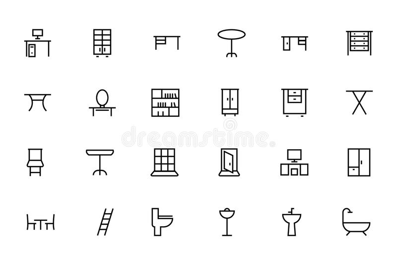 Buildings and Furniture 6 vector illustration