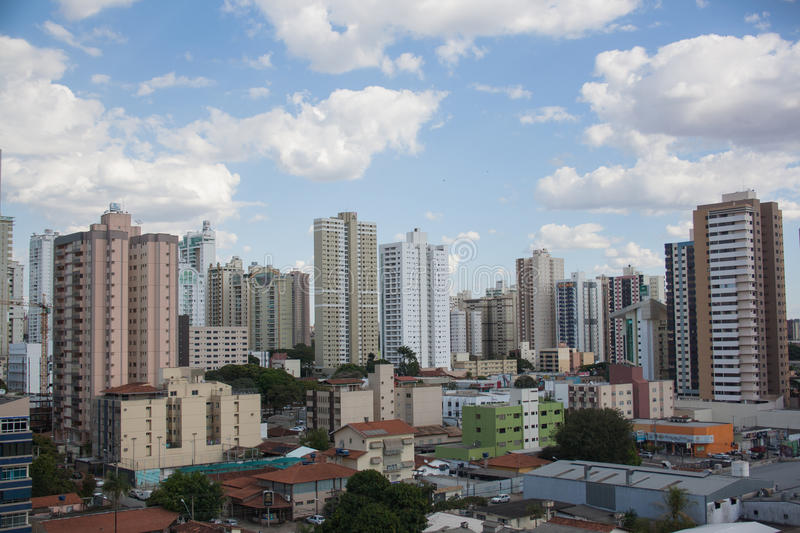 Buildings in Goiania. View over Goiania in Brazil stock photography