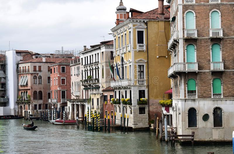 Buildings on Grand canal in Venice stock image
