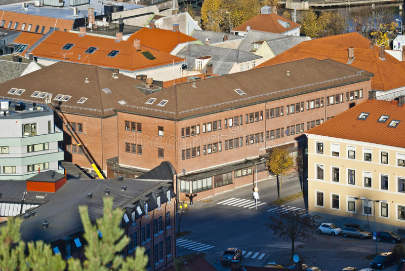 Buildings In Halden, Police Station Royalty Free Stock Images