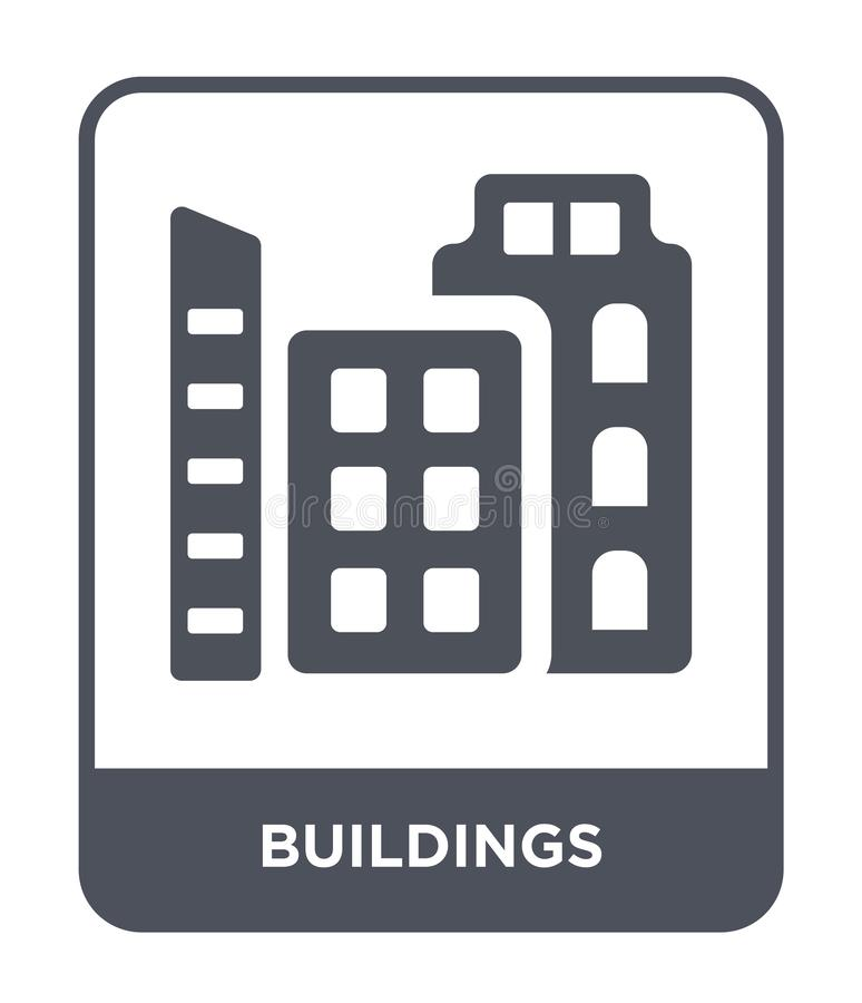 Buildings icon in trendy design style. buildings icon isolated on white background. buildings vector icon simple and modern flat. Symbol for web site, mobile vector illustration