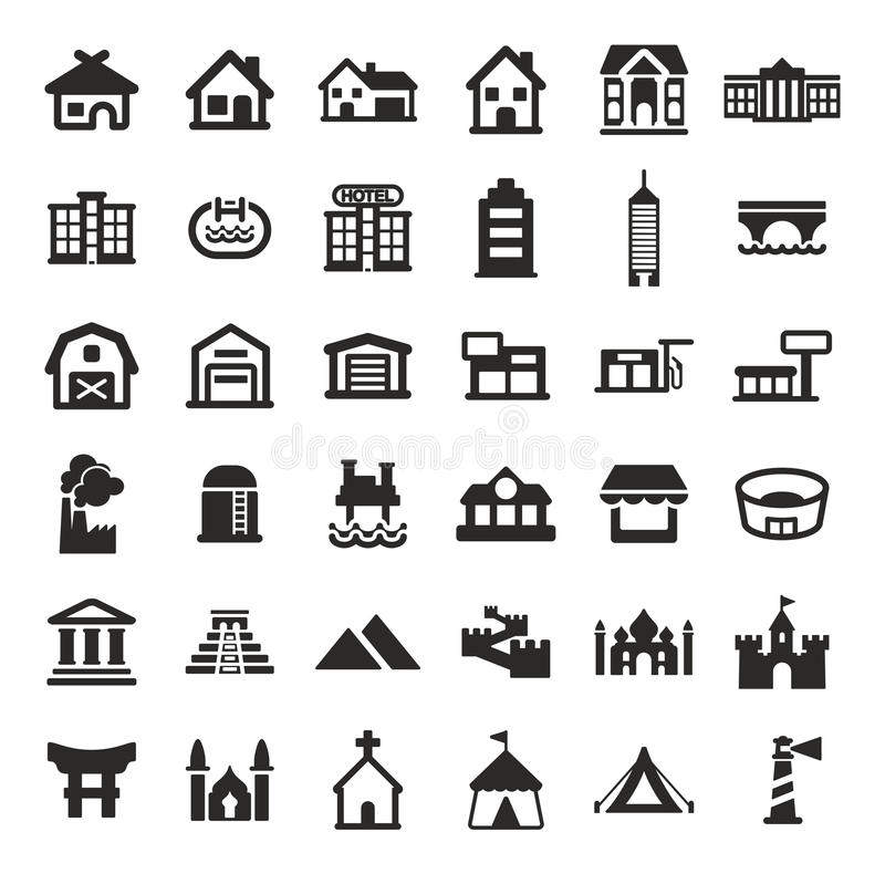 Buildings Icons vector illustration