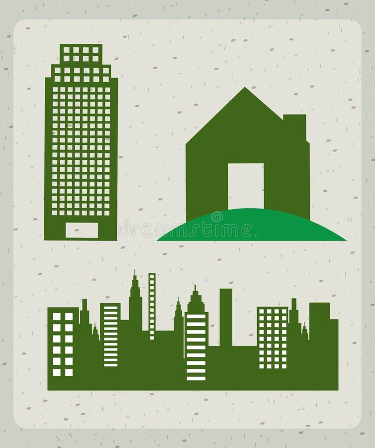 Buildings Icons Stock Photo