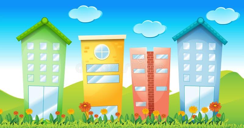 Buildings stock illustration