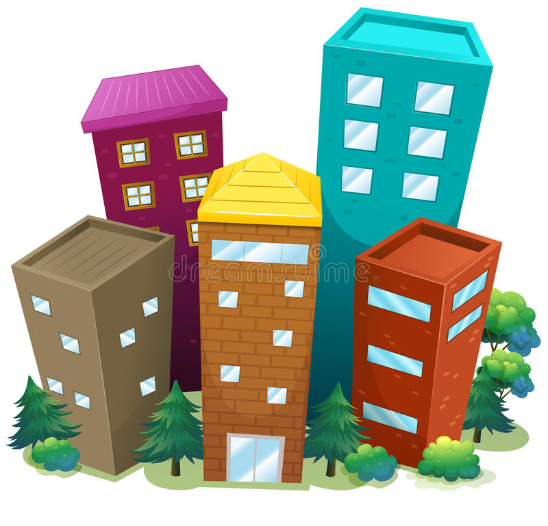 Buildings vector illustration