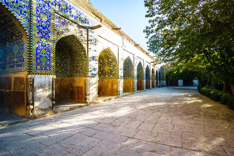 Buildings of Jameh mosque in Isfahan - Iran royalty free stock photography
