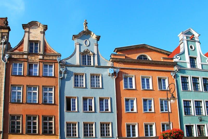 Buildings on Long Market street, Gdansk, Poland