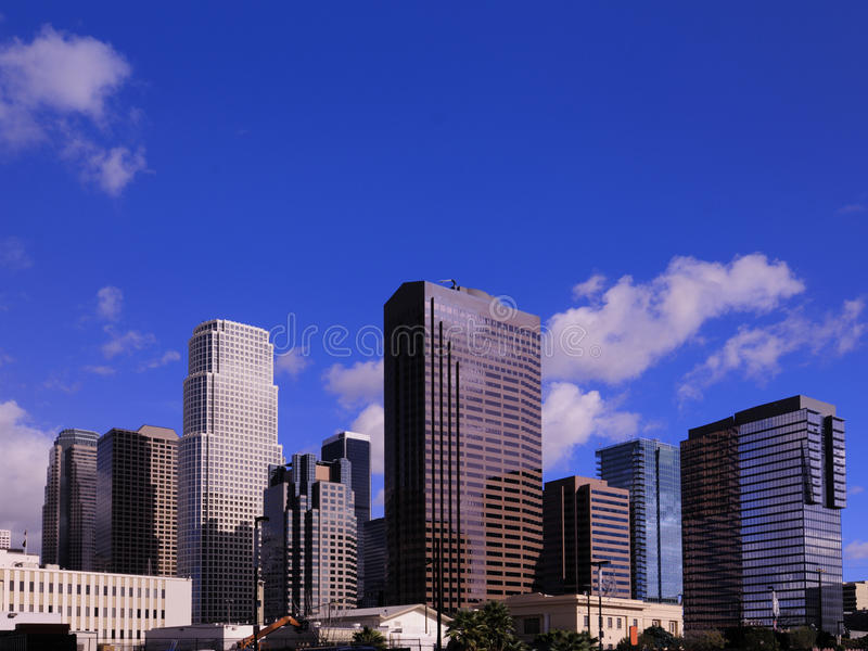 Buildings Los Angeles CA. Office buildings South of Downtown Los Angeles CA in the afternoon stock photography