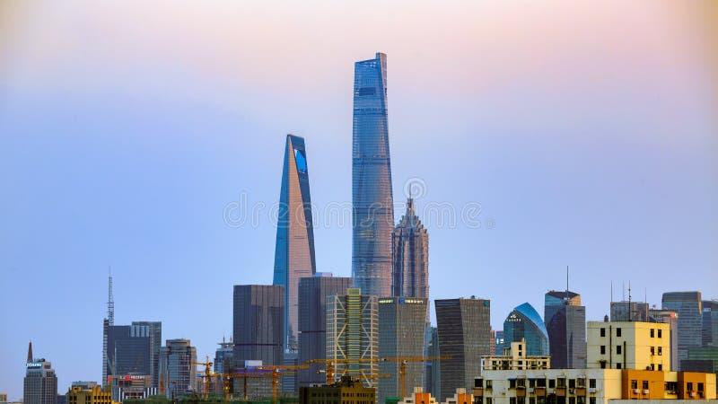 Buildings at Lujiazui. Overlooking Buildings at Lujiazui of Shanghai royalty free stock images
